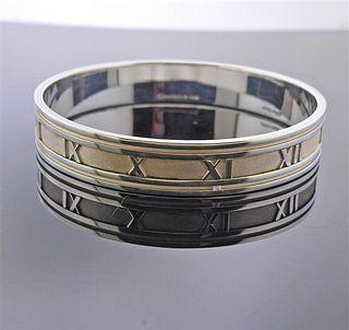 Tiffany & Co Atlas Silver Bangle Bracelet