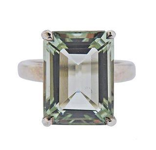 Tiffany & Co Sparklers Silver Prasiolite Ring