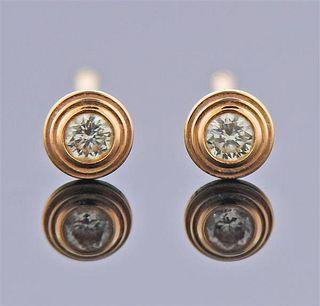 Cartier Diamants Legers XS 18K Gold Diamond Stud Earrings