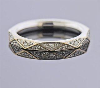 Graff Signature 18K Gold  Diamond Band Ring