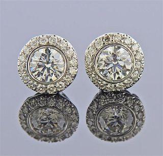 Kwiat 18K Gold Diamond Stud Earrings