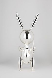 Jeff Koons (York 1955)  - Silver Gold Rabbit