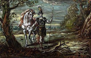 Giorgio de Chirico (Volos 1888-Roma 1978)  - Il giovane Achille sul monte Pelio, early 1950's