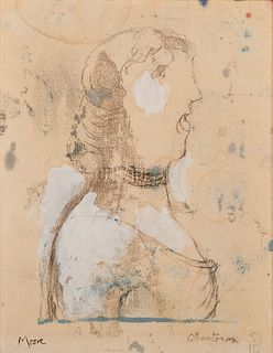 Henry Moore (Castleford 1898-Perry Green 1986)  - Chanteuse, 1981