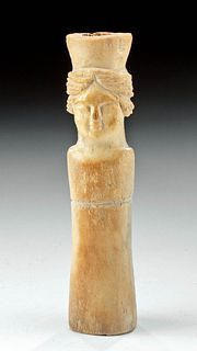 Romano-Egyptian Coptic Bone Idol of a Female