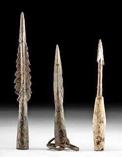 Roman Iron Weapons - 2 Spearheads + Plumbata