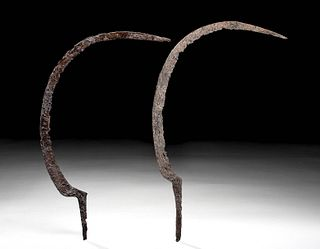 Lot of Two Roman Iron Scythes