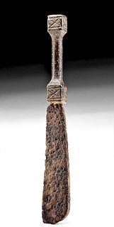 Roman Iron Razor w/ Incised Handle