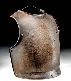 18th C. French Iron Cuirass Front Plate