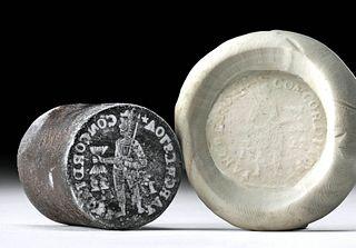 Rare 1722 Dutch Iron Coin Die (for Ducat)