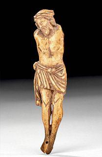Byzantine Carved Bone Crucifix Fragment