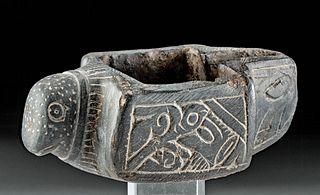 Medieval Islamic Stone Bird Shaped Oil Lamp