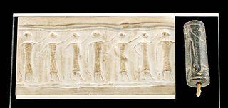 Jemdet Nasr Stone Cylinder Seal Bead w/ Figures