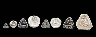 4 Anatolian Stone Stamp Seals w/ Abstract Zoomorphs