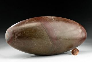 Indian Shiva Lingam Stone - Collected in 20th C.
