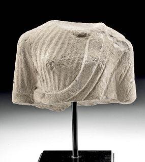 Gandharan Stone Torso w/ Sumptuous Garments