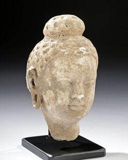 1st C. Gandharan Stucco Head of Buddha
