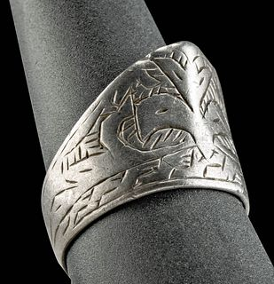 18th C. Persian Silver Archer's Ring