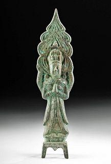 Chinese Tang Dynasty Brass Bodhisattva Figure