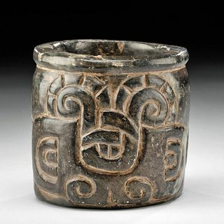 Chavin Stone Cup w/ Incised Zoomorphs