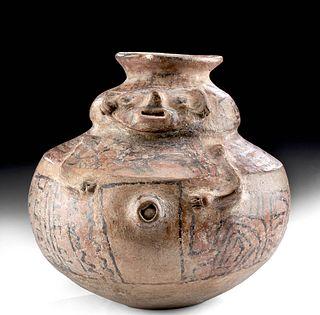 Ica Polychrome Human Effigy Jar