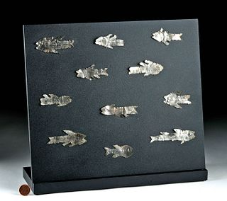 Sican Lambayeque Silver Fish / Shark Votives (11)
