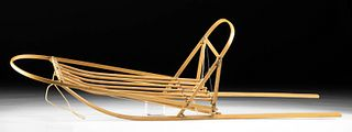 20th C. Inuit Wood Sled Toy