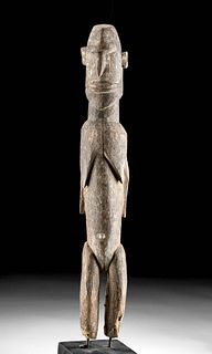 Early 20th C. African Lobi Wood Female Bateba Figure