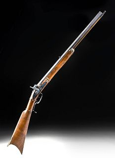 19th C. USA Pennsylvania Wood / Steel Percussion Rifle