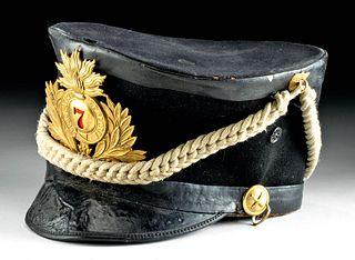 Antique New York 7th Regiment Felt & Leather Cap