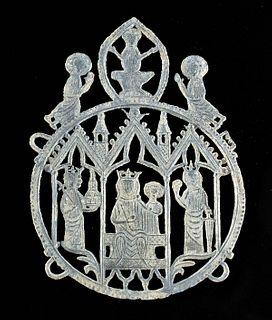 11th C. Medieval European Pewter Pilgrims' Badge