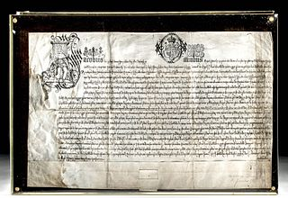 1605 English Parchment From the Rule of King James I