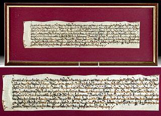 1678 English Vellum Deed Transfer Document
