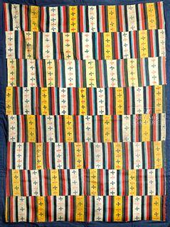 Beautiful / Large Late 19th C. Bhutanese Wool Shawl