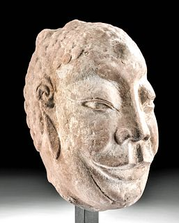 Chinese Wei Dynasty Stone Head - Dipankara Buddha