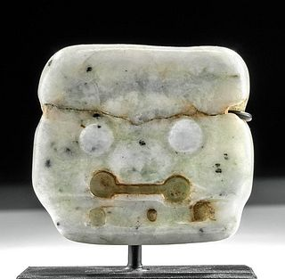 Rare Maya White Jadeite Maskette