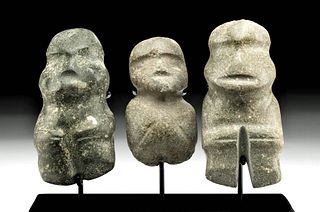 Guerrero Mezcala Greenstone Abstract Figures (3)