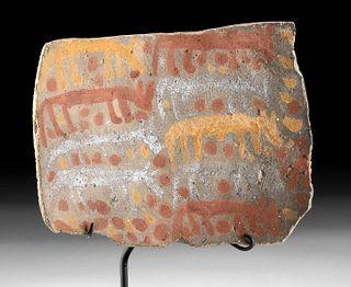 Inca Chucu Polychrome Plaque w/ Camelids