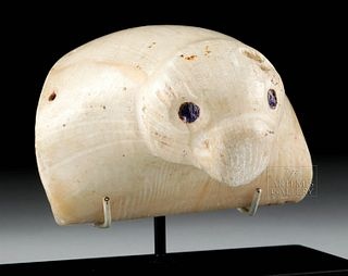 Nazca Clam Shell Sea Lion with Inlaid Shell Eyes