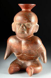 Colima Redware Seated Hunchback Dwarf, ex-Sotheby's