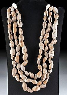 Native American Chumash Olivella Shell Bead Necklaces