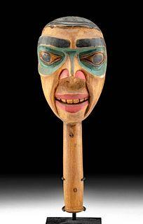 Early 20th C. Pacific Northwest Coast Haida Wood Rattle