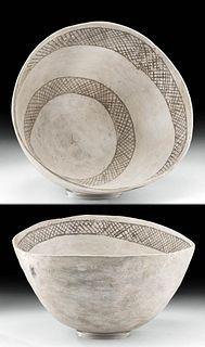 Prehistoric Anasazi Chaco Canyon Black-on-White Bowl