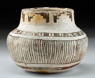 Rare Anasazi Bidahochi Black-on-White Pottery Olla