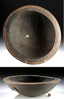19th C. Trobriand Islands Massim Wood Feast Bowl