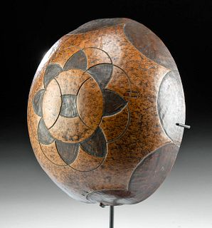 19th C. Fijian Ceremonial Gourd Cup