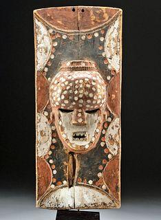 Rare 20th C. African Salampasu Painted Wood Panel
