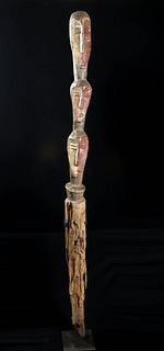 Huge / Early 20th C. African Lengola Wood Burial Votive