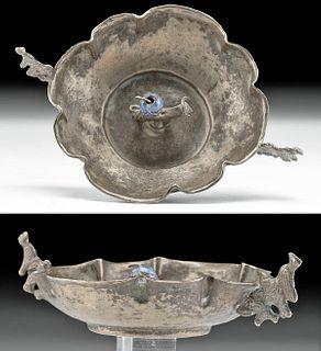 19th C. Bolivian Spanish Copper / Silver Wedding Dish