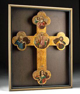 Glistening 19th C. Russian Icon Processional Cross